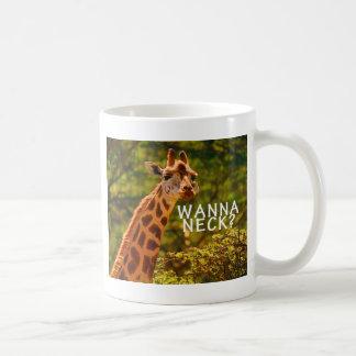 Wanna Neck Giraffe Coffee Mug