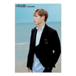 WANNA ONE Ha Sungwoon Burn It Up Poster