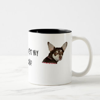 WANNA PET MY CHI ... Two-Tone COFFEE MUG