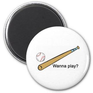 Wanna Play Baseball? Magnet
