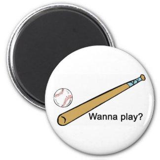 Wanna Play Baseball? Magnets