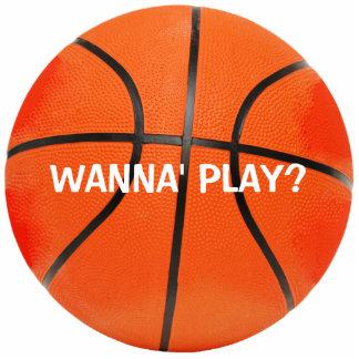 WANNA' PLAY? Basketball Photo Sculpture