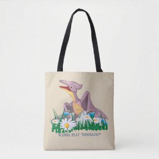 Wanna Play Dinosaur Tote Bag