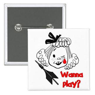 Wanna Play Jarts Pinback Button
