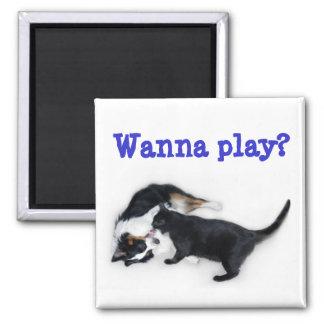 Wanna Play? Refrigerator Magnet