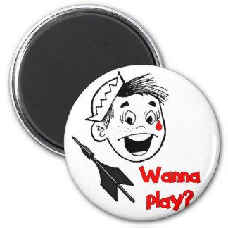 Wanna Play? Fridge Magnet