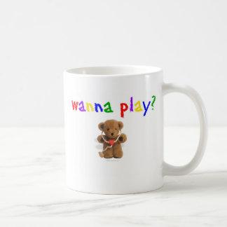 Wanna Play? Classic White Coffee Mug