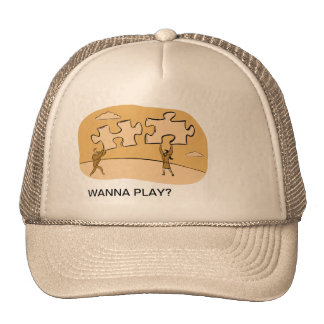 WANNA PLAY? TRUCKER HAT