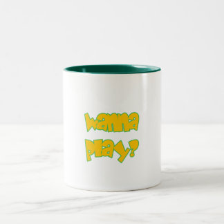 Wanna Play? Two-Tone Coffee Mug
