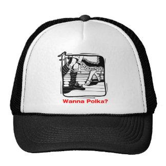 Wanna Polka Oktoberfest T-shirt Mesh Hat
