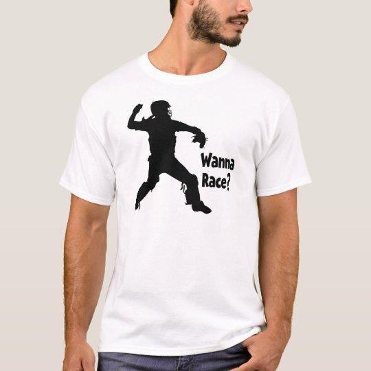 Wanna Race, black T-Shirt