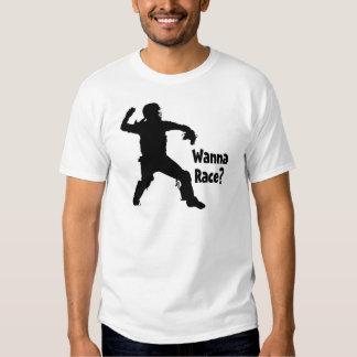 Wanna Race, black Tee Shirt