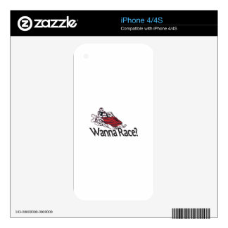 Wanna Race? Decal For The iPhone 4S