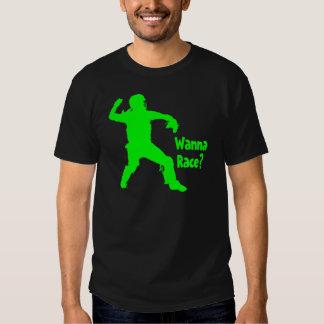 Wanna Race, neon green T Shirt