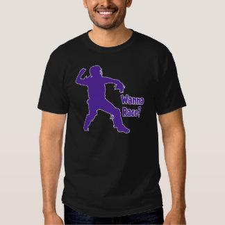 Wanna Race, purple T Shirt