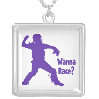 Wanna Race Silver Plated Necklace