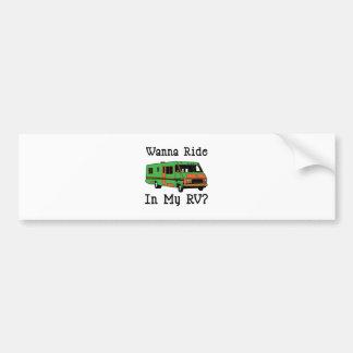 Wanna Ride Car Bumper Sticker