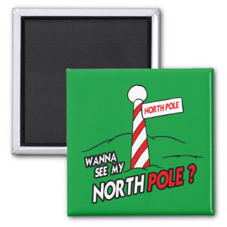 WANNA SEE MY NORTH POLE REFRIGERATOR MAGNET