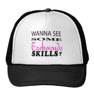 Wanna See Some Taekwondo Skill Mesh Hat