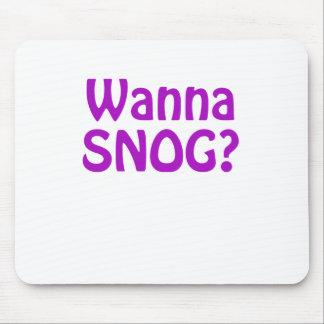 Wanna Snog Mouse Pad