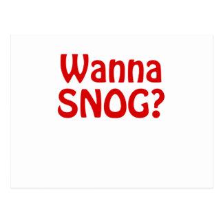 Wanna Snog Postcard