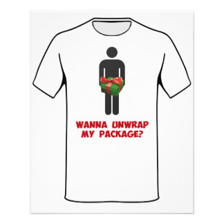 Wanna Unwrap my Package? Flyer