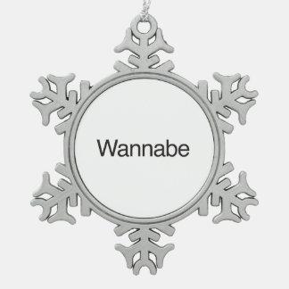 wannabe.ai adorno de peltre en forma de copo de nieve