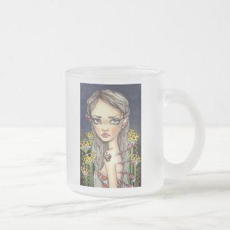 Wannabe Butterfly Frosted Glass Coffee Mug