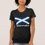 Wannabe Scottish-Black back Tee Shirts