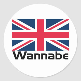 Wannabe - UK Classic Round Sticker