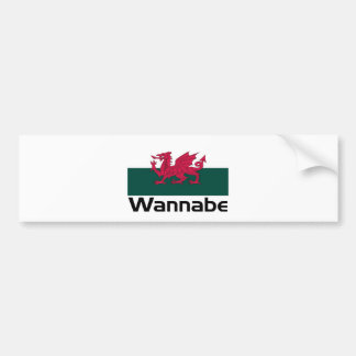 Wannabe- Welsh Bumper Sticker