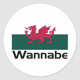 Wannabe- Welsh Classic Round Sticker