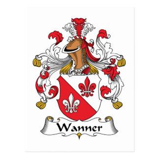 Wanner Family Crest Postcard