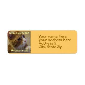 Want a Friend for Life? Return Address Label