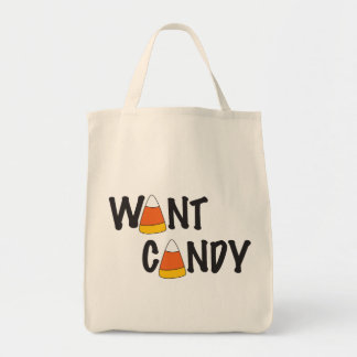 Want Candy - Halloween Treats Tote Bag