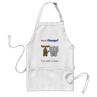 Want Change?  That's a Whole New Animal Adult Apron