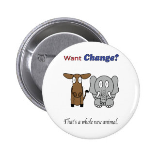 Want Change?  That's a Whole New Animal 2 Inch Round Button
