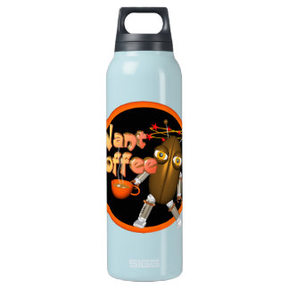 Want Coffee on 100+ by Valxart.com Insulated Water Bottle