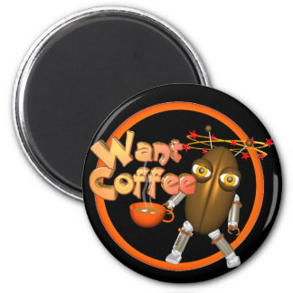 Want Coffee on 100+ products by Valxart.com Refrigerator Magnets