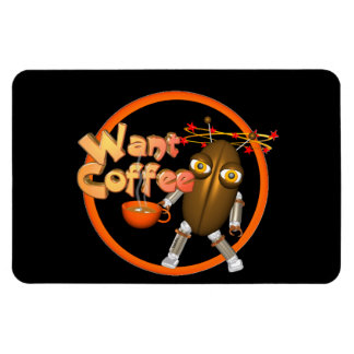 Want Coffee on 100+ products by Valxart.com Rectangular Magnet