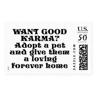 Want good karma? Adopt a pet... Postage