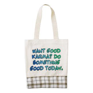 Want good karma? Do something good today Zazzle HEART Tote Bag
