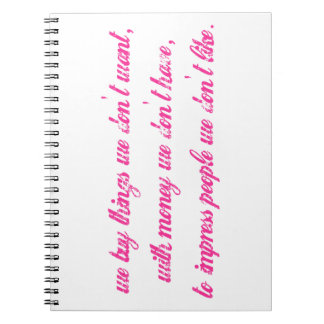 Want, Have, and Like Quote Notebook
