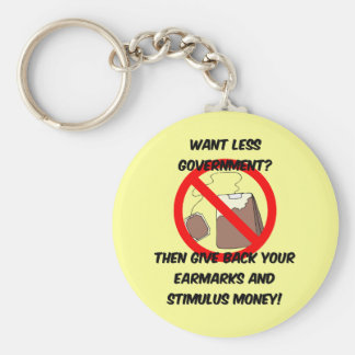 want less goverment keychain