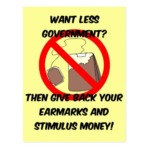 want less goverment postcards