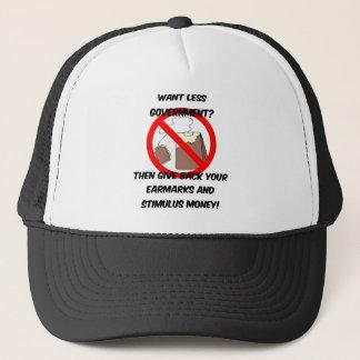 want less goverment trucker hat