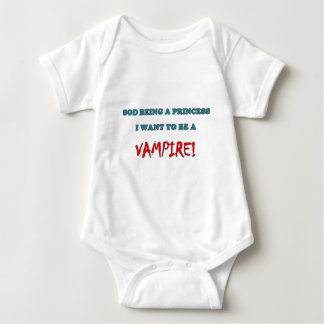 Want to be a Vampire Baby Bodysuit