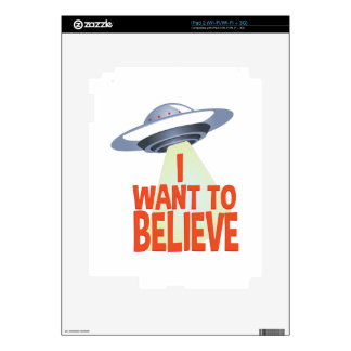 Want To Believe Decals For The iPad 2