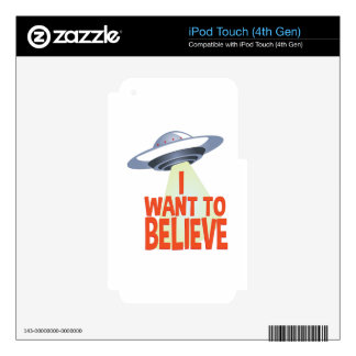 Want To Believe iPod Touch 4G Decals