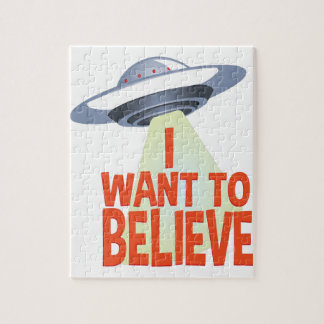 Want To Believe Jigsaw Puzzle